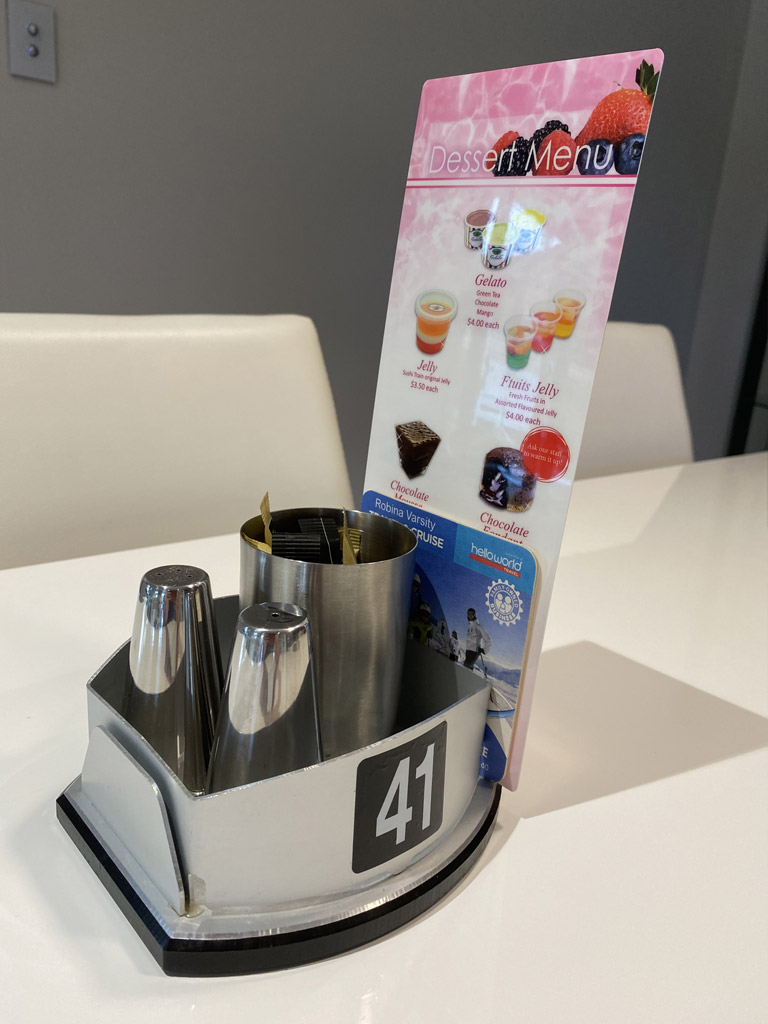 Condiment Caf 233 Holders Menu Display Holder Table