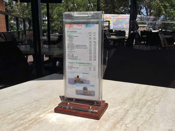 Menu Display Stands Table Talkers Condiment Holders